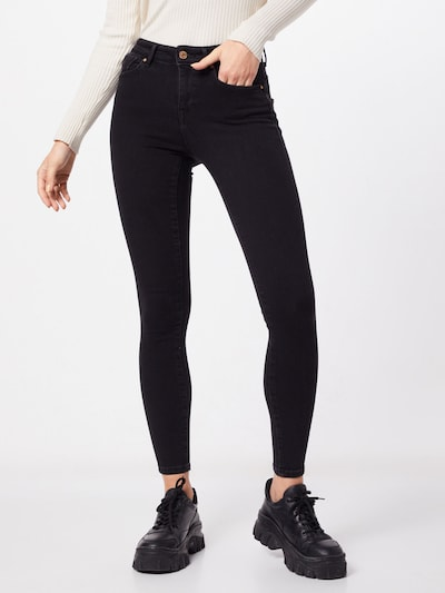 ONLY Jean 'ONLPower Mid Push Up Skinny Fit' en noir denim, Vue avec modèle
