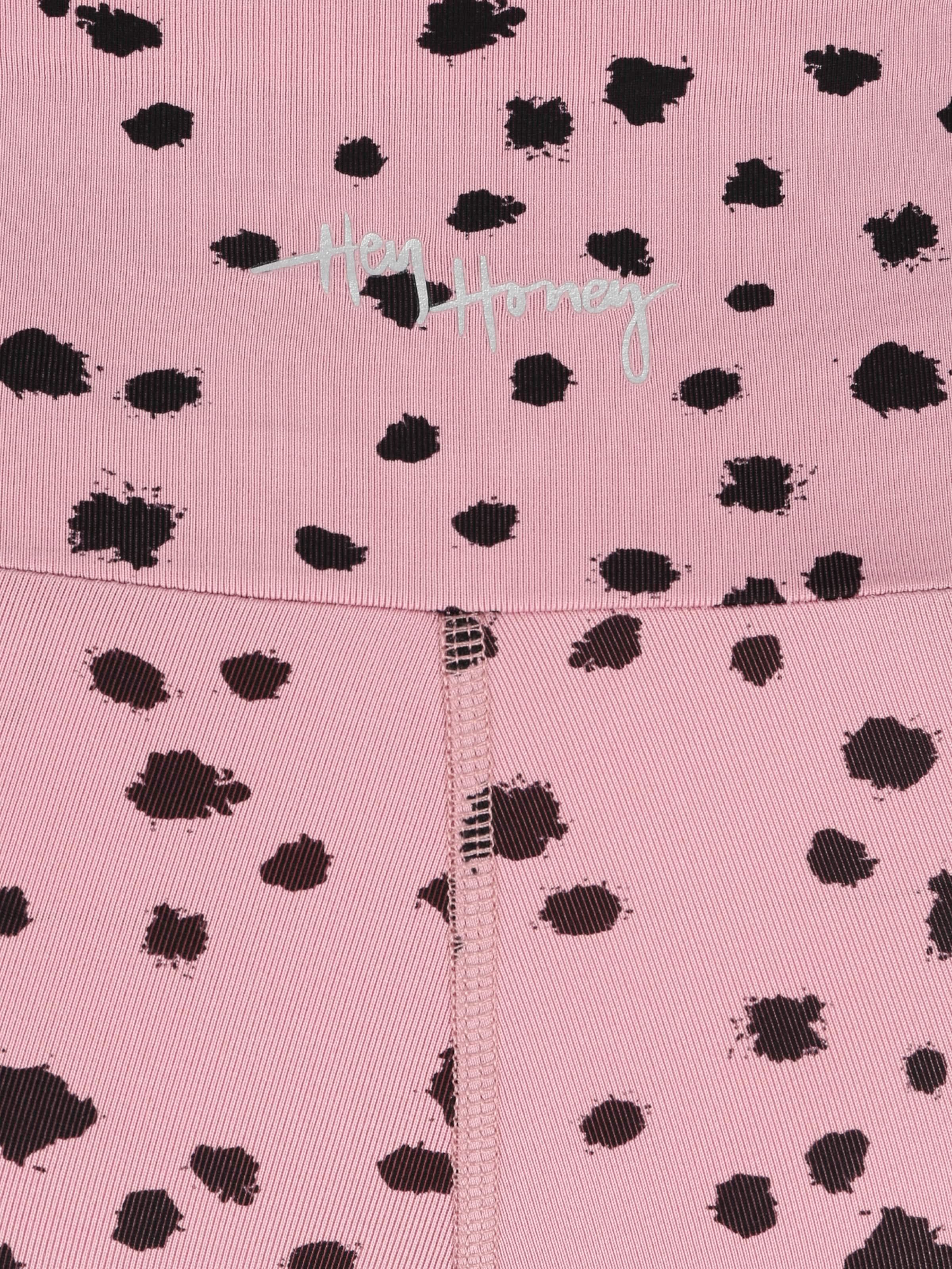 Hey Honey Sportbyxa 'DOTS' i rosa / svart
