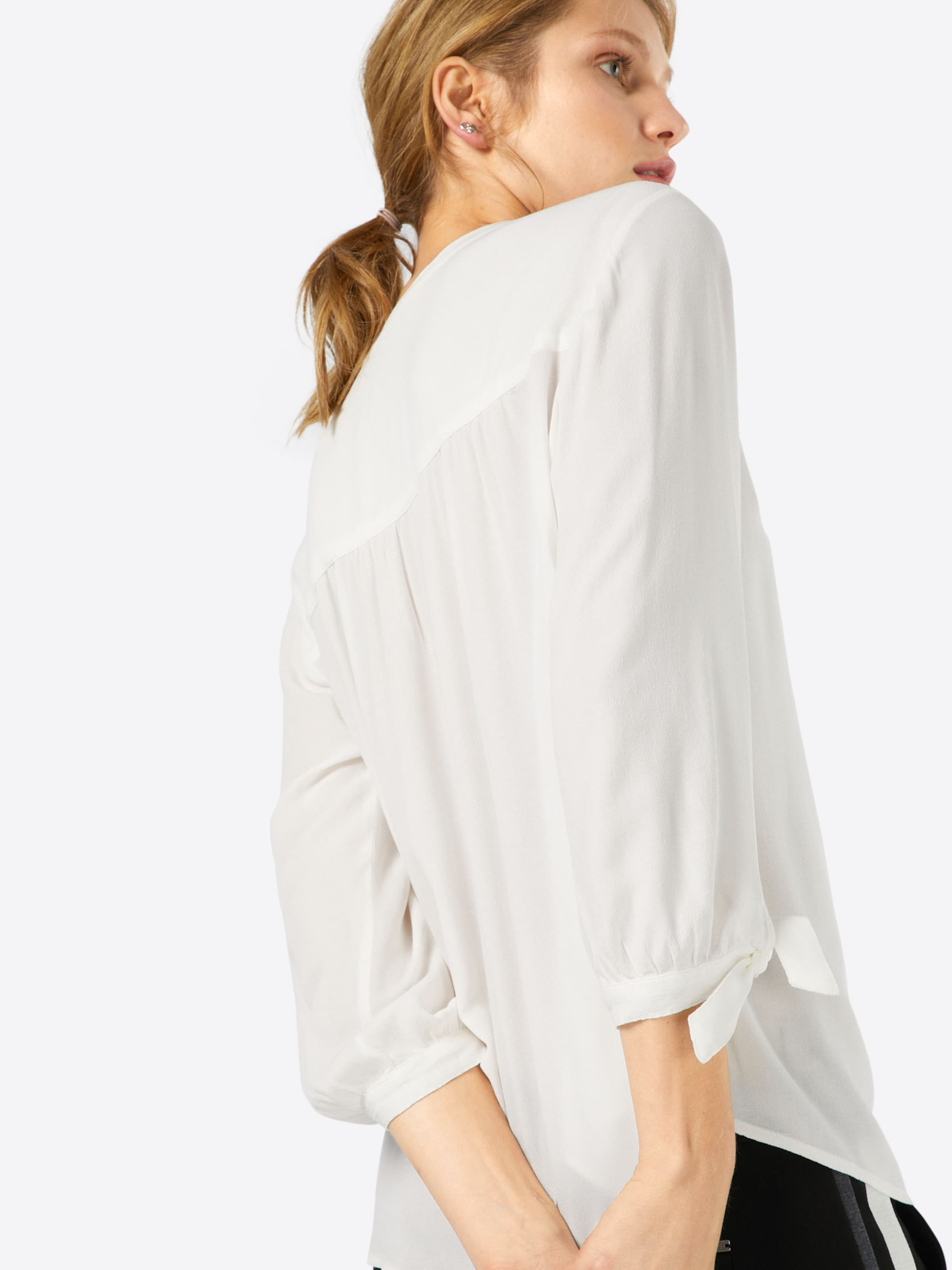 TOM TAILOR DENIM Bluse 'feminine tunic with bow detail' Billig Verkauf Extrem Gutes Angebot Auslass Für Billig C6jIjKs