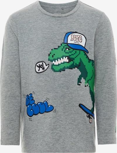NAME IT Shirt 'Nmmbasso' in blau / graumeliert / grün / pastellpink, Produktansicht