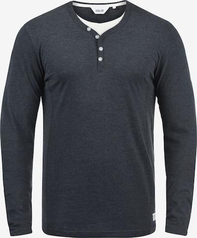 !Solid Layershirt 'Doriano' in blaumeliert, Produktansicht
