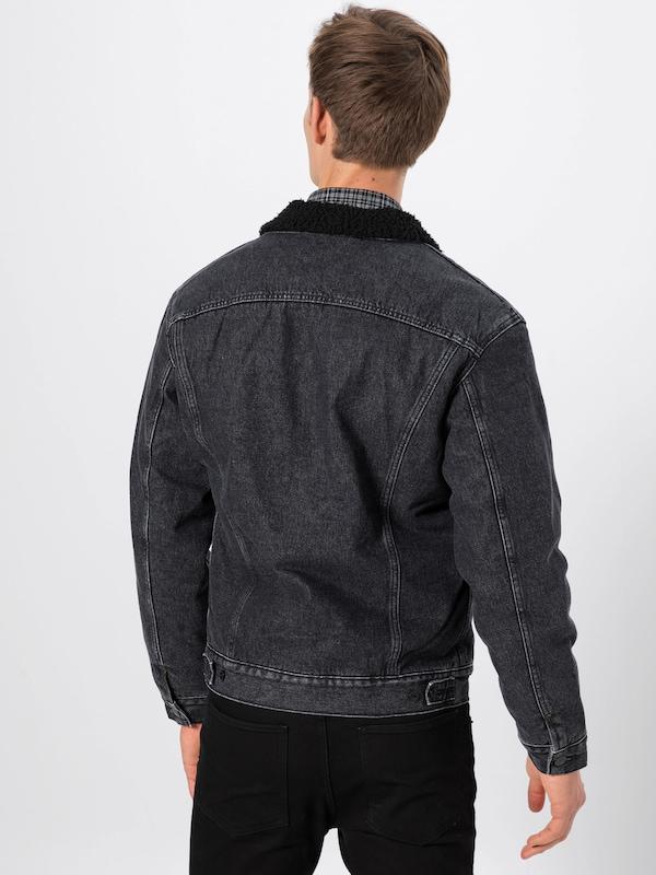 Veste saison Jacket' En 'sherpa Lee Mi Gris DenimNoir rdBoxeWC