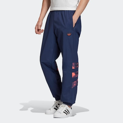 ADIDAS ORIGINALS Sporthose 'Retro' in dunkelblau / koralle, Modelansicht