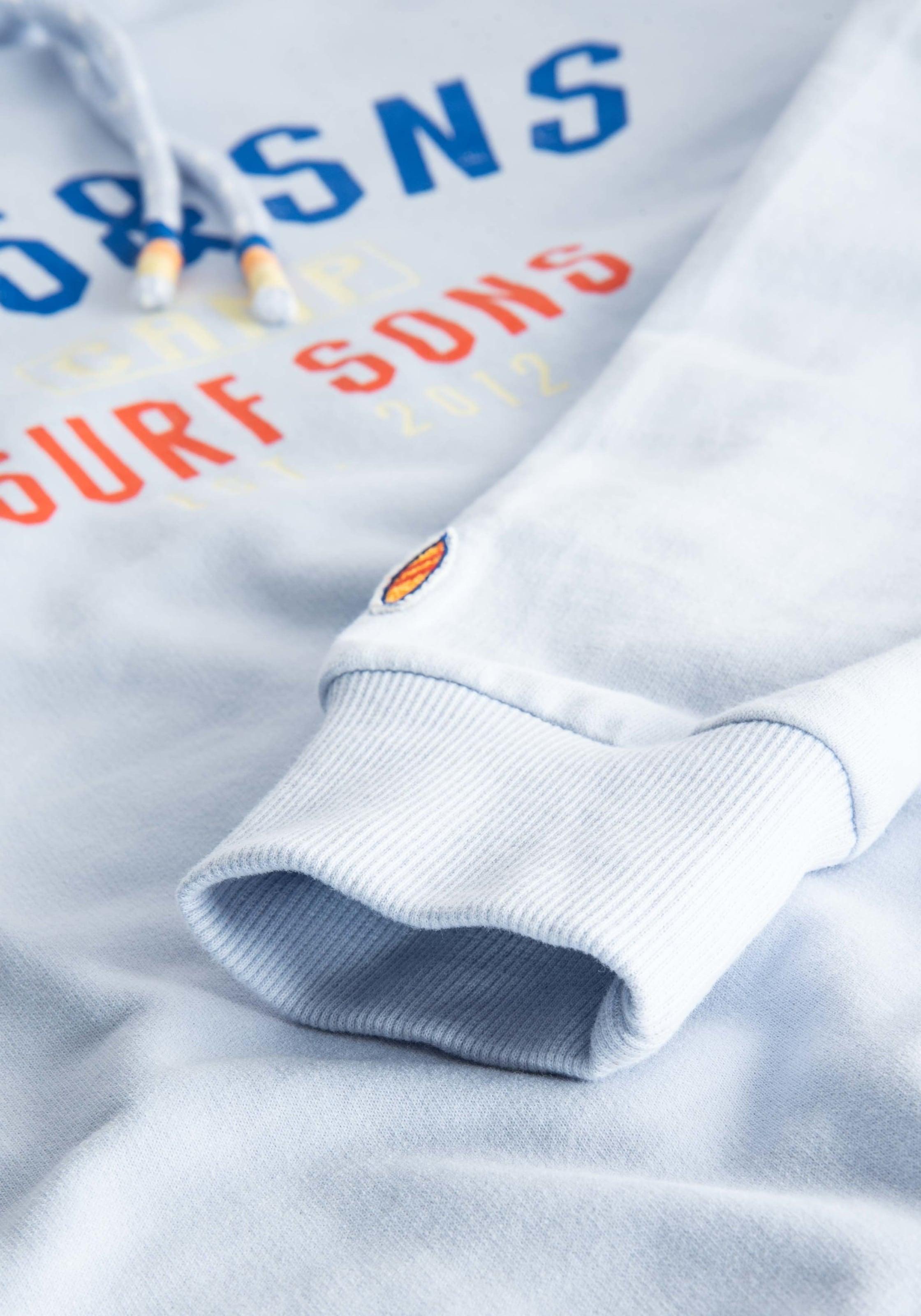 Sweatshirt In Sons 'bruno' Coloursamp; BlauAzur Dunkelorange 8nwkN0POXZ