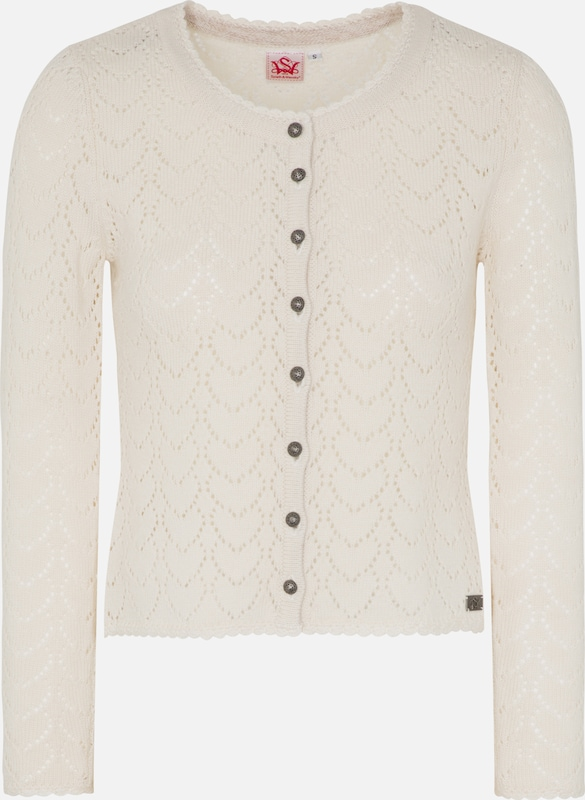SPIETH & WENSKY Strickjacke 'Krista' in wollweiß  Markenkleidung für Männer und Frauen