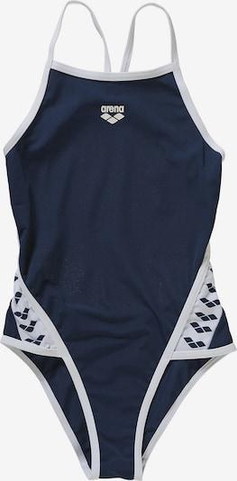 ARENA Badeanzug in blau / weiß: Frontalansicht