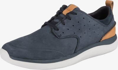CLARKS Sneaker 'Garratt Lace' in navy / cognac, Produktansicht