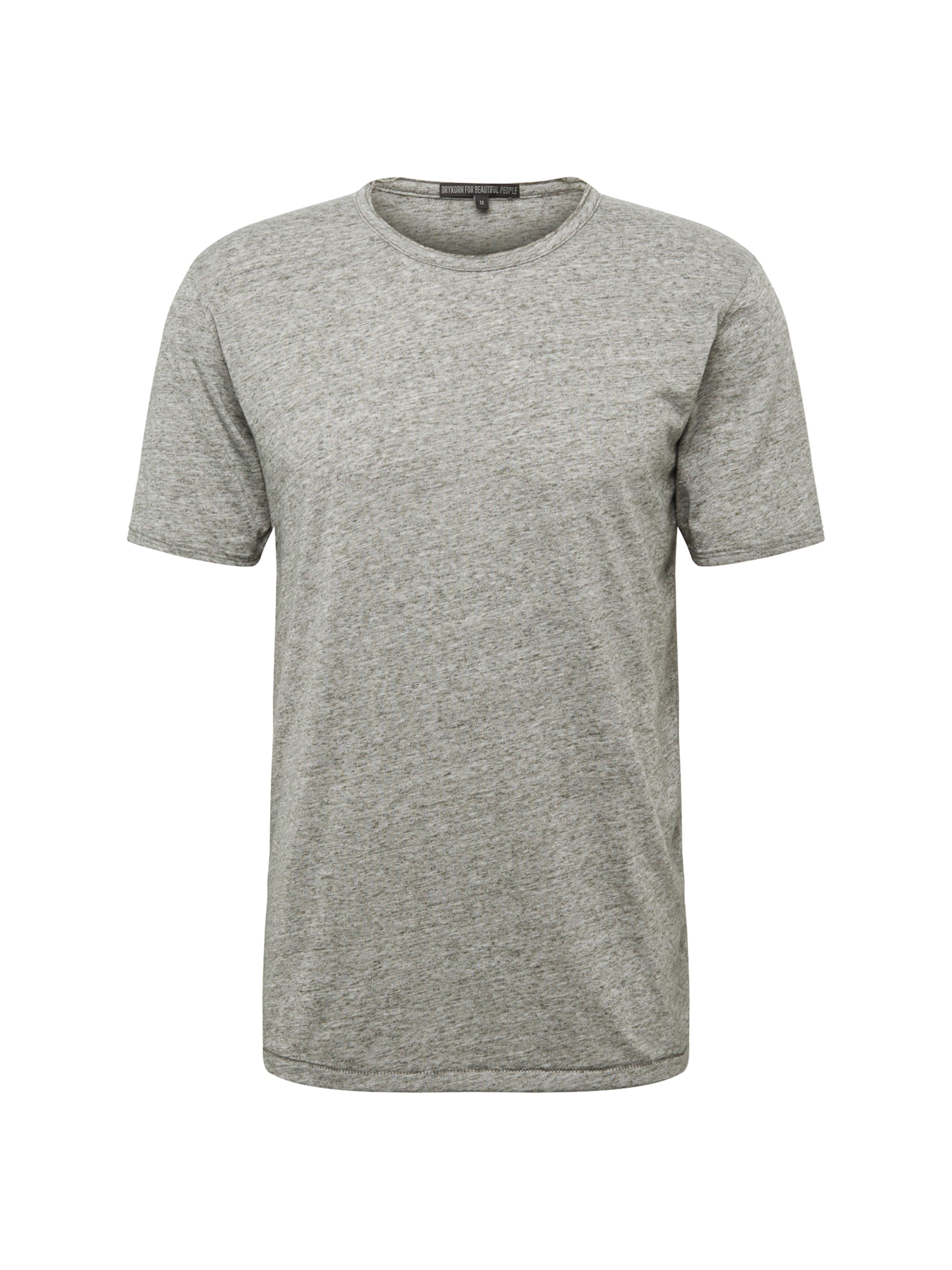 T shirt Drykorn En Chiné 'nero' Gris kOXZTiPwu
