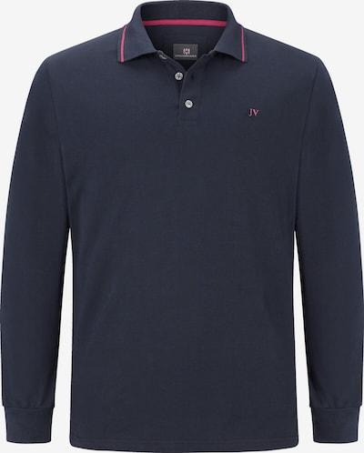 Jan Vanderstorm Langarm-Poloshirt ' Ellis ' in blau, Produktansicht