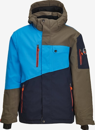 KILLTEC Skijacke 'Sahmy' in navy / neonblau / khaki, Produktansicht
