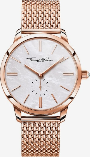 Thomas Sabo Uhr in rosegold / weißmeliert, Produktansicht