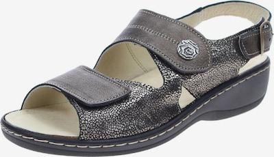 Longo Sandale in basaltgrau / silber, Produktansicht