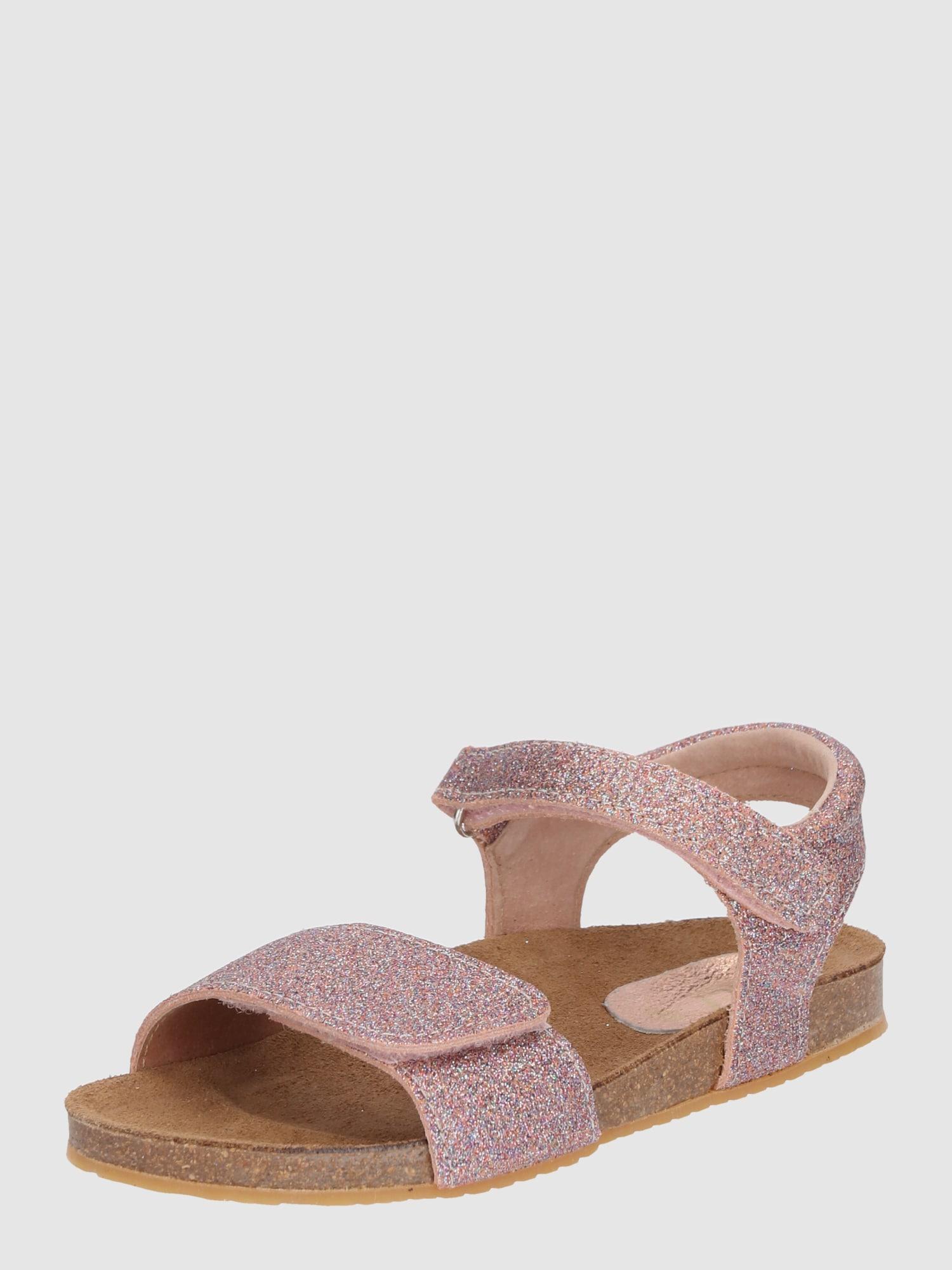clic sandalen 39 17 39 mit glitzer effekt in pink about you. Black Bedroom Furniture Sets. Home Design Ideas