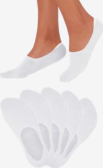BENCH Füßlinge in weiß, Produktansicht