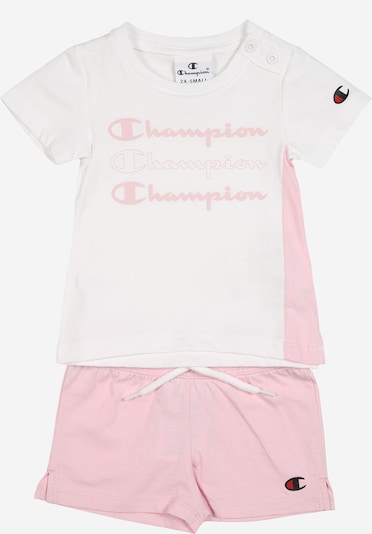 Champion Authentic Athletic Apparel Shirt + Shorts in pink / weiß, Produktansicht