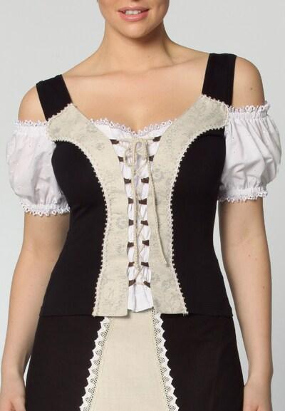 STOCKERPOINT Trachtenshirt in beige / schwarz, Modelansicht