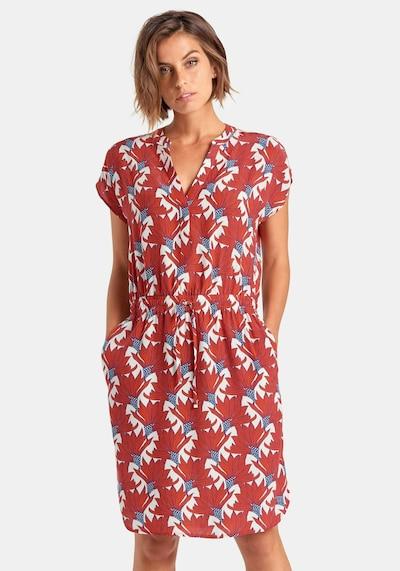 Peter Hahn 'Kleid in mischfarben / rot, Modelansicht