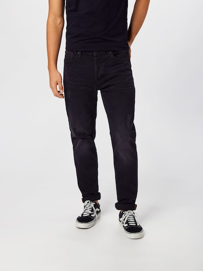 Only & Sons Kavbojke 'AVI TAP BLACK ST 5241' | črn denim barva, Prikaz modela