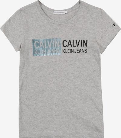 Calvin Klein Jeans T-Shirt 'STAMP LOGO SLIM FIT' en gris, Vue avec produit