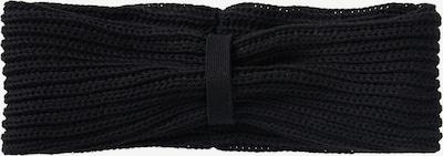 recolution Stirnband aus Rippstrick in schwarz, Produktansicht