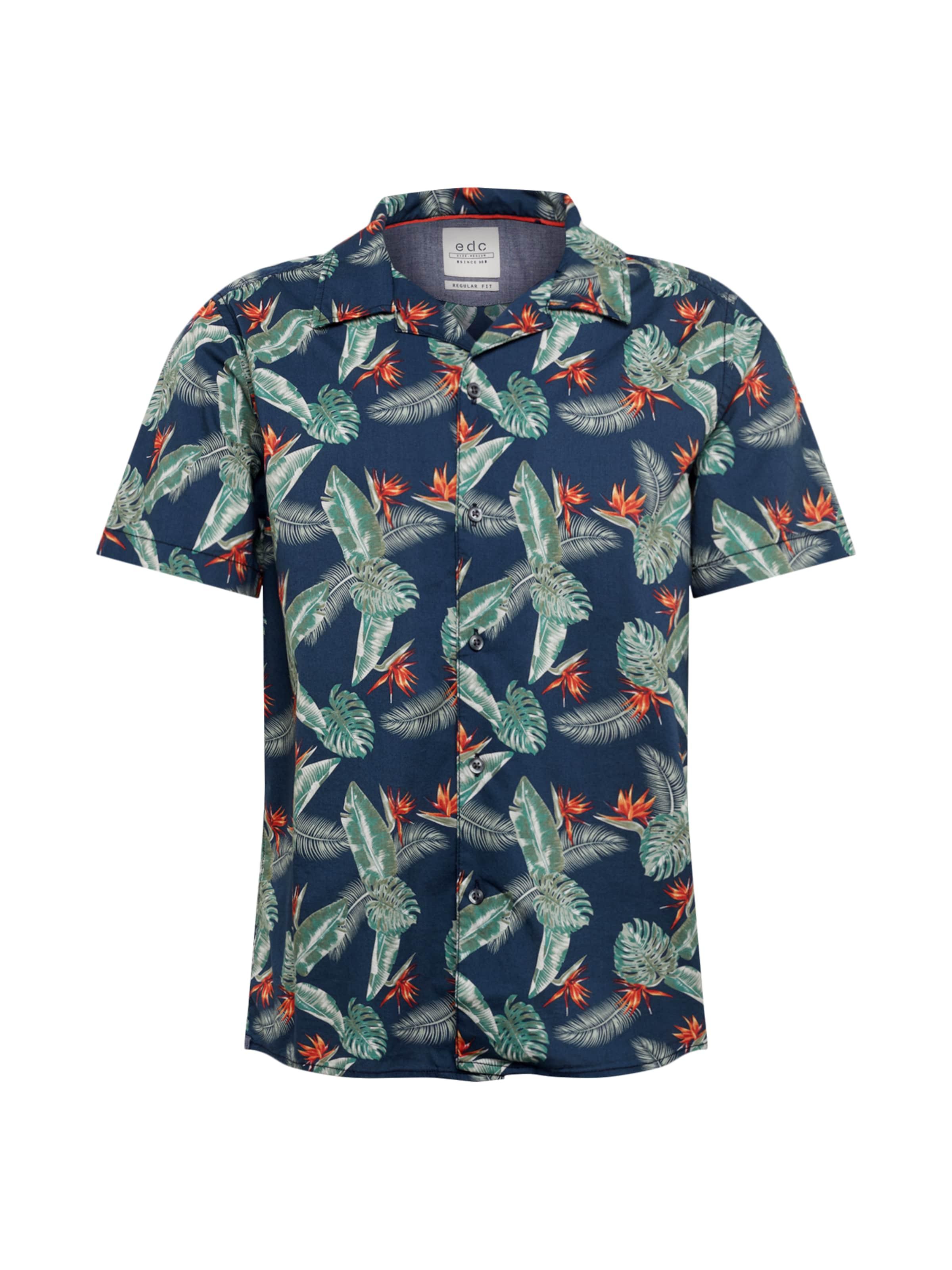'hawaii' Edc Esprit In By Hemd MarineMischfarben KJuF3Tl5c1