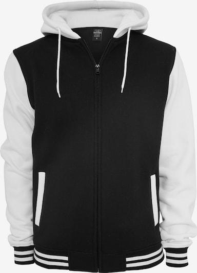 Urban Classics Mikina s kapucí - černá / přírodní bílá, Produkt