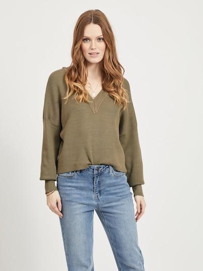 OBJECT Pullover in oliv, Modelansicht