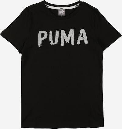 PUMA T-Shirt in schwarz / silber, Produktansicht