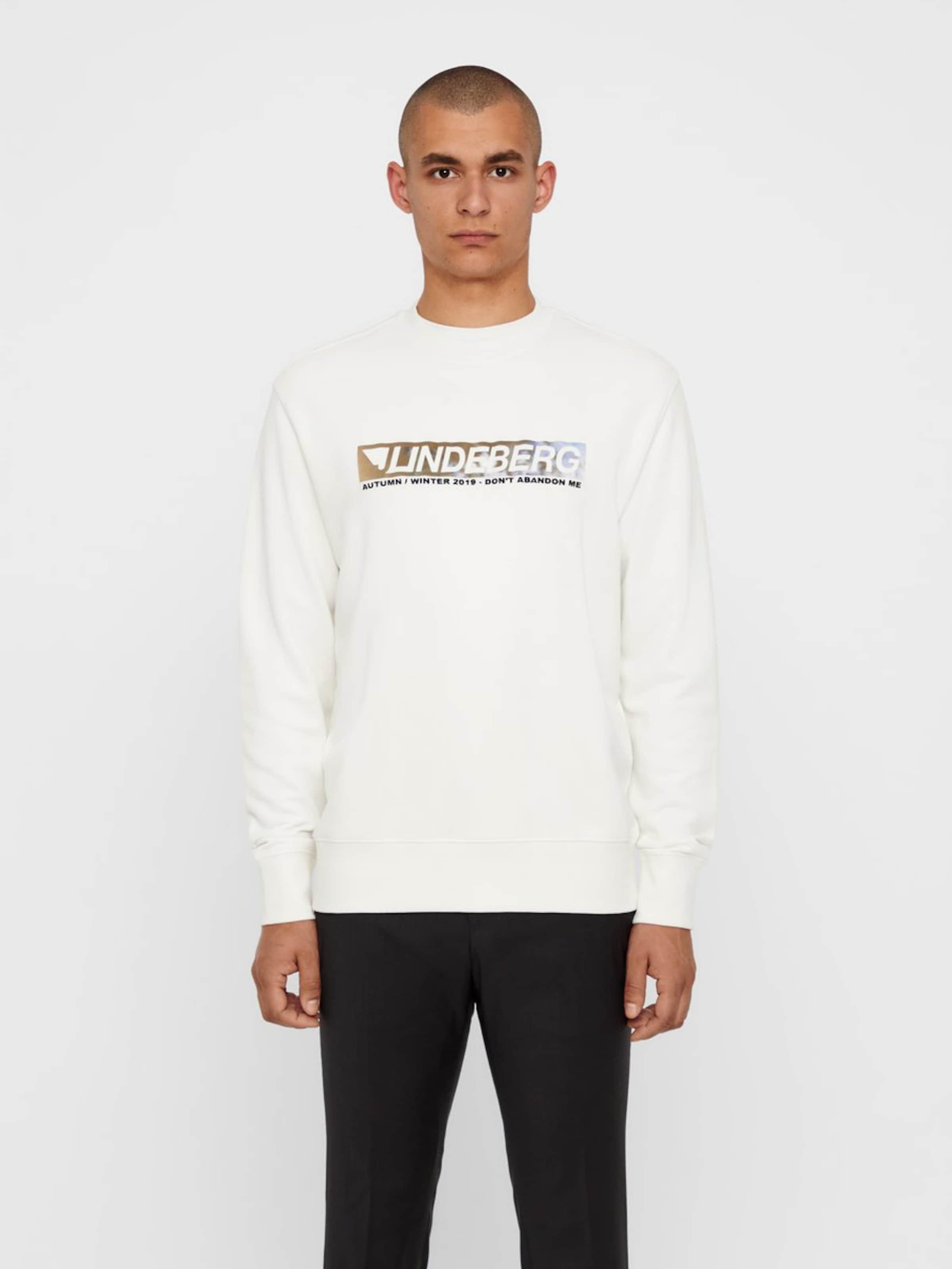 Naturel lindeberg En J Sweat Blanc 'hurl' shirt TlKcJ1F