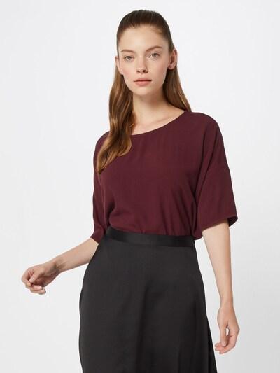 Samsoe Samsoe Bluse 'MAINS' in burgunder, Modelansicht