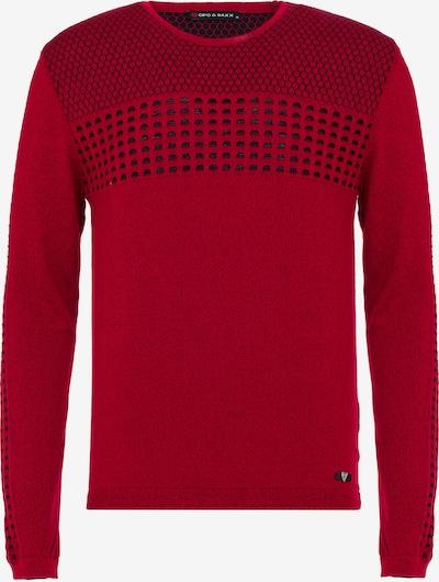 CIPO & BAXX Pullover in rot / schwarz, Produktansicht