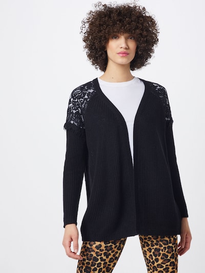 ONLY Strickjacke 'ELROSA' in schwarz, Modelansicht