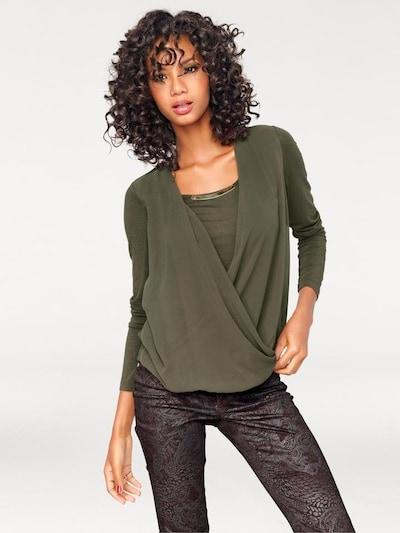 heine Blusenshirt in khaki, Modelansicht