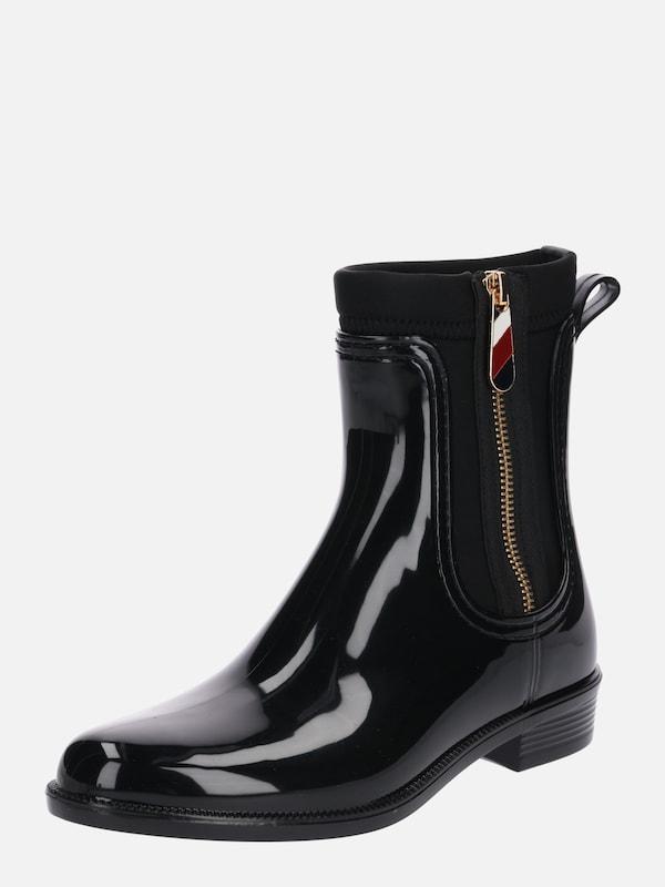 neue Kollektion Beste attraktive Designs TOMMY HILFIGER Regenstiefel in schwarz