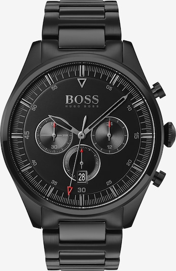 BOSS Casual Chronograph 'Pioneer' in rot / schwarz / silber, Produktansicht