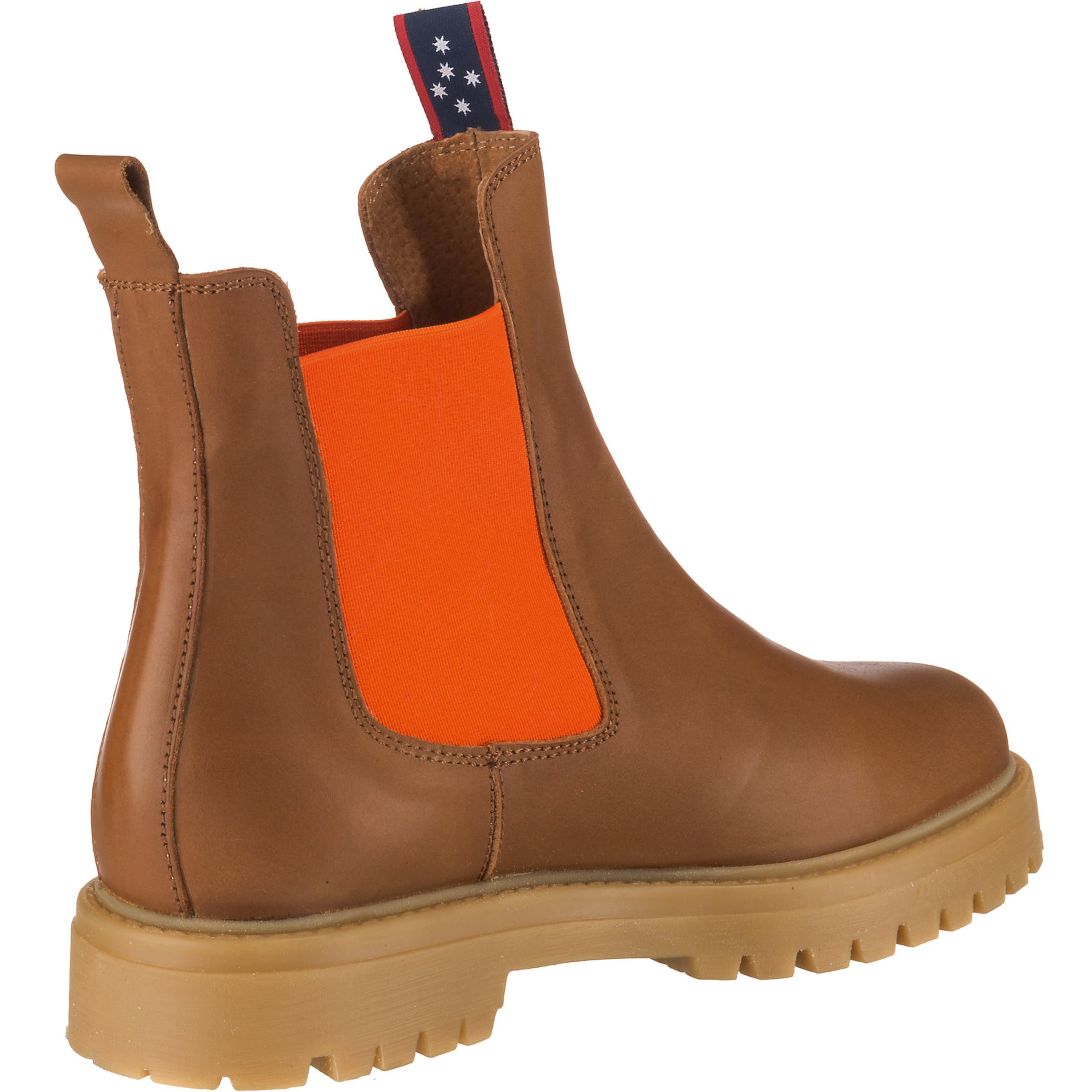 JOLANA & FENENA Chelsea Boot in cognac / orange