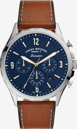 FOSSIL Uhr »FORRESTER CHRONO, FS5607« in blau / braun, Produktansicht