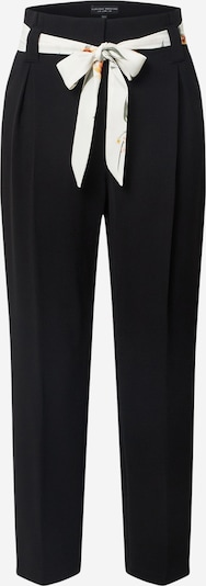 Dorothy Perkins Pantalon 'Black Print Belt Slim Trouser' en noir, Vue avec produit