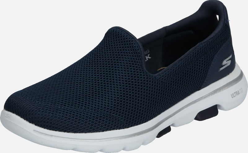 SKECHERS Instappers 'GO WALK 5' in de kleur Navy / Wit, Productweergave