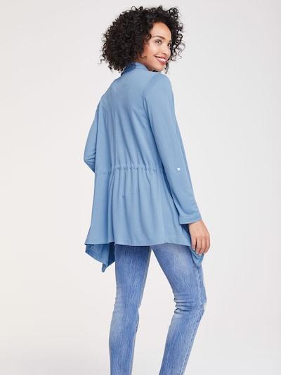 heine Tussenjas in de kleur Smoky blue: Achteraanzicht