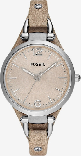FOSSIL Armbanduhr 'GEORGIA' in hellbeige / silber, Produktansicht