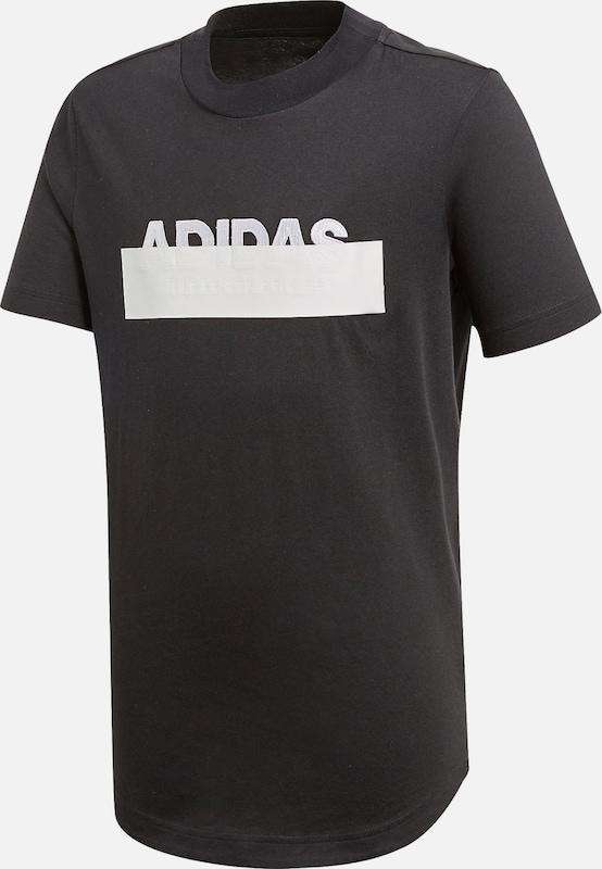 ADIDAS PERFORMANCE T Shirt 'ID Varcity' in schwarz weiß
