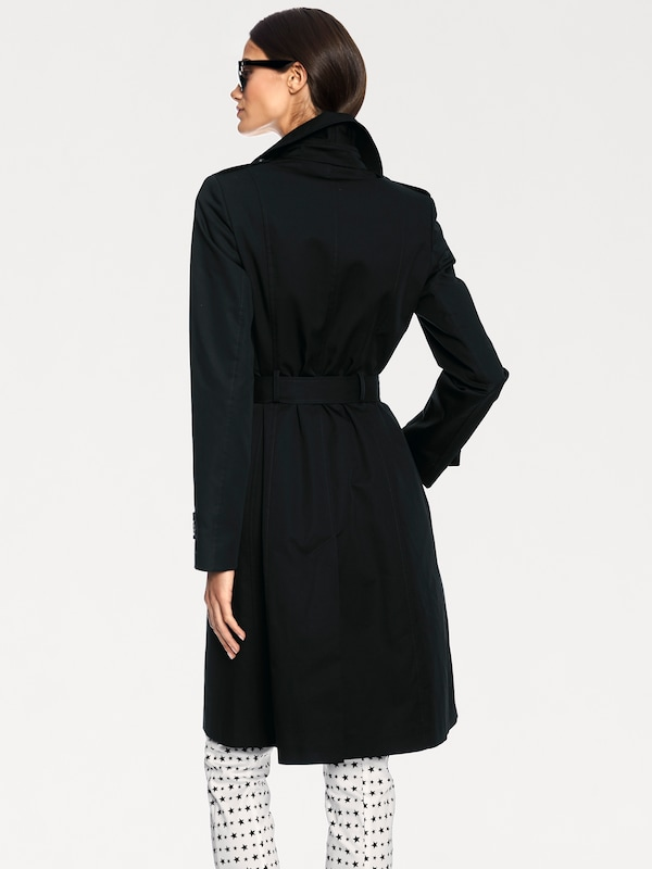 Noir Manteau En saison Heine Mi kwOPn08