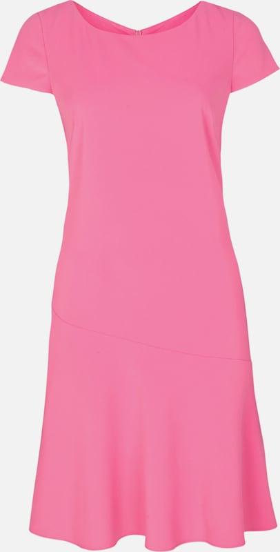 S.Oliver schwarz LABEL Crêpe-Kleid in modischer Shape in in in Rosa  Markenkleidung für Männer und Frauen d21d2f