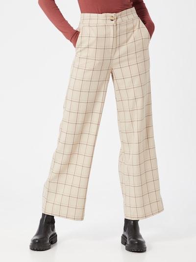 SAINT TROPEZ Broek 'Bibbi' in de kleur Beige / Rood, Modelweergave