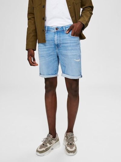 SELECTED HOMME Superstretch Jeansshorts in blau, Modelansicht