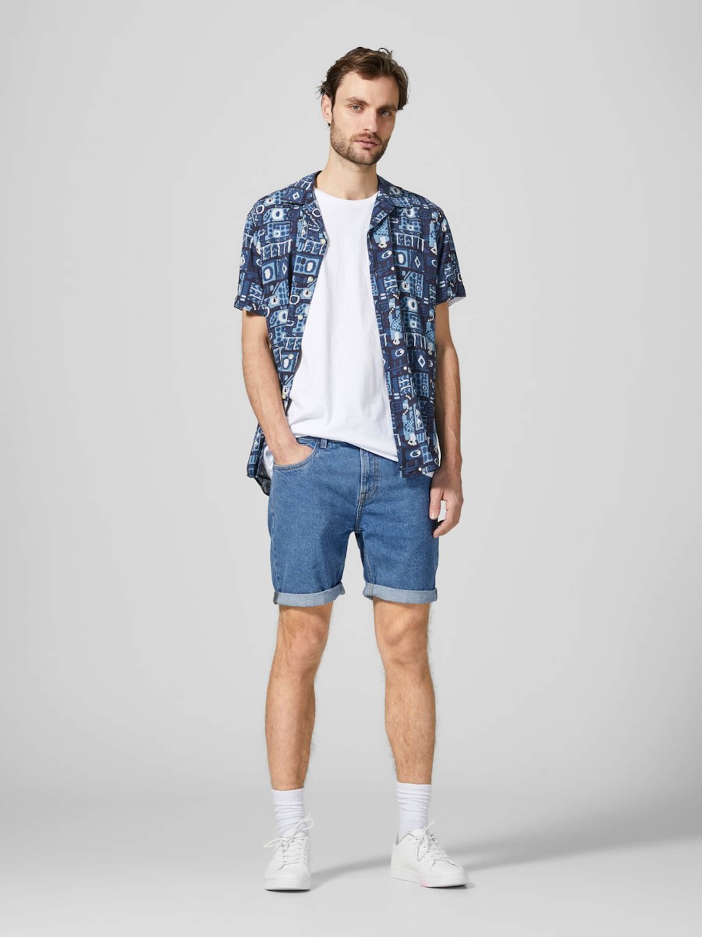 In Produkt Blue Denim Regular Fit Jeansshorts xtBhQdosrC