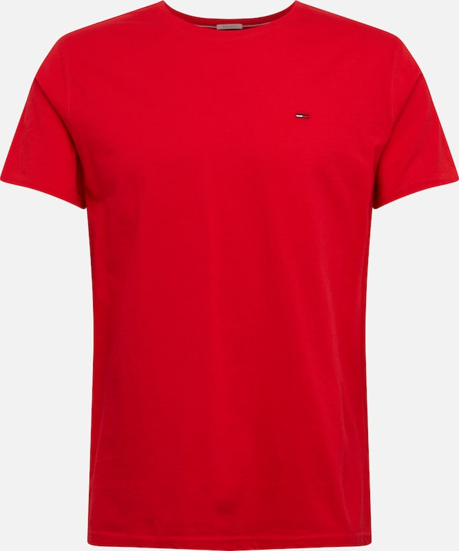 Tommy Jeans T-Shirt 'ESSENTIAL' in rot, Produktansicht