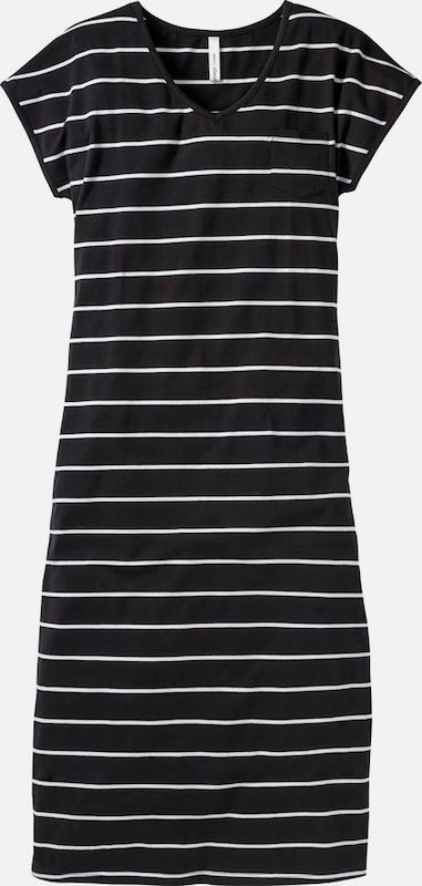 Sheego casual Maxikleid in schwarz   weiß  Neu in diesem Quartal