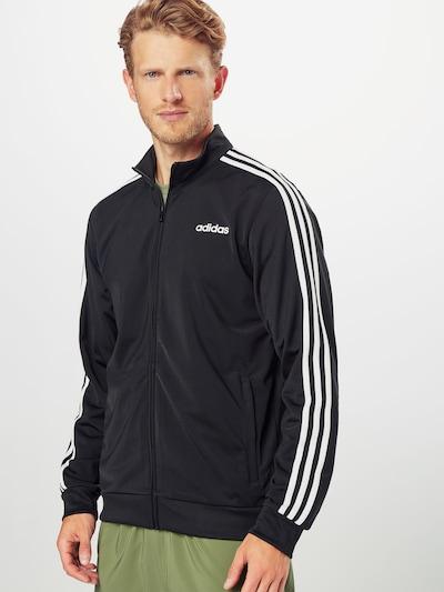 ADIDAS PERFORMANCE Trainingsjacke in schwarz / weiß: Frontalansicht